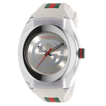 Gucci Unisex Sync Rubber Strap Watch, 46mm