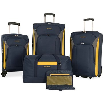 Nautica Open Seas 5-Piece Spinner Luggage Set