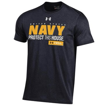 Under Armour Men's USN Protect This House Short Sleeve Charged Cotton Tee