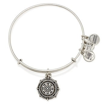 Alex and Ani Charity By Design Take The Wheel Expandable Bangle, Silver Finish