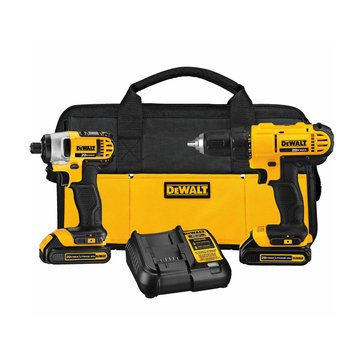 Dewalt 20-Volt MAX Lithium-Ion Cordless Drill/Driver and Impact Combo Kit