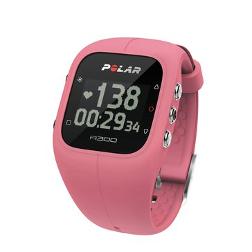 Polar A300 Fitness Watch with Heart Rate Monitor - Pink