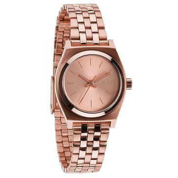 Nixon Women's Small Time Teller Watch A399-897, Rose Gold 26mm