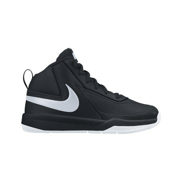 Nike Team Hustle D7 Boys' Basketball Shoe Black/White/Black