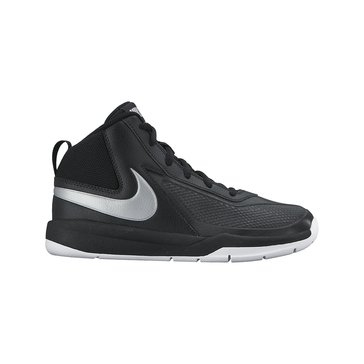 Nike Team Hustle D 7 Boy's Basketball Shoe-Black