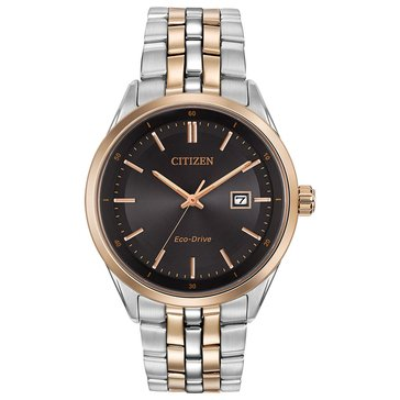 Citizen Men's Eco-Drive Rose Gold Tone and Stainless Steel Bracelet Watch, 41mm