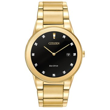 Citizen Men's Eco-Drive Axion Gold Tone Bracelet Accent Watch, 40mm