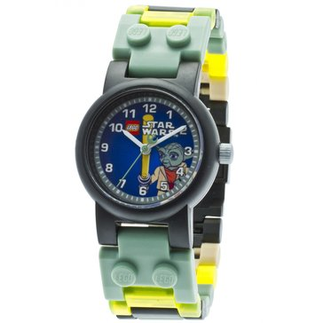 LEGO Kids' Star Wars Yoda Minifigure Watch