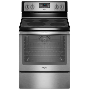 Whirlpool 6.4-Cu.Ft. Freestanding Electric Range, Stainless Steel (WFE540H0ES)