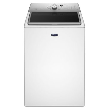 Maytag 5.3-Cu.Ft. Extra-Large Capacity Washer w/ PowerWash System, White (MVWB855DW)