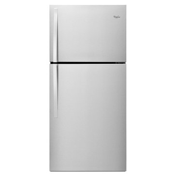 Whirlpool 19.2-Cu.Ft. Top-Freezer Refrigerator, Stainless Steel (WRT549SZDM)