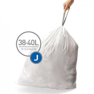 simplehuman Custom Fit J Liners, 60 Pack