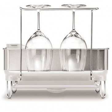 simplehuman Compact White Compact Steel Frame Dishrack