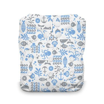Thirsties Snap All-In-One Cloth Diaper, Ocean Life