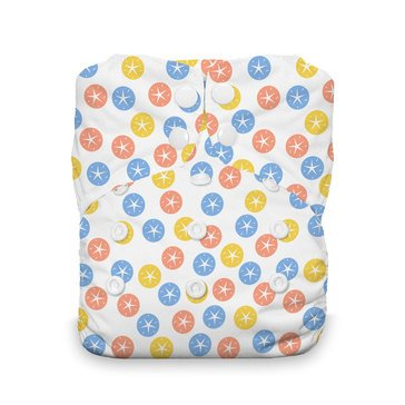 Thirsties Snap All-In-One Cloth Diaper, Sand Dollar
