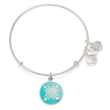 Alex and Ani Charity By Design Arrows of Friendship Expandable Bangle, Shiny Silver Finish