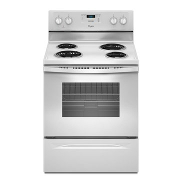 Whirlpool 4.8-Cu.Ft. Freestanding Electric Range, White (WFC150M0EW)