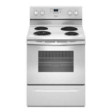 Whirlpool 4.8-Cu.Ft. Freestanding Electric Range w/ AccuBakeSystem, White (WFC310S0E)