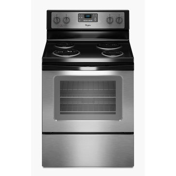 Whirlpool 4.8-Cu.Ft. Freestanding Electric Range w/ AccuBakeSystem, Stainless Steel (WFC310S0ES)