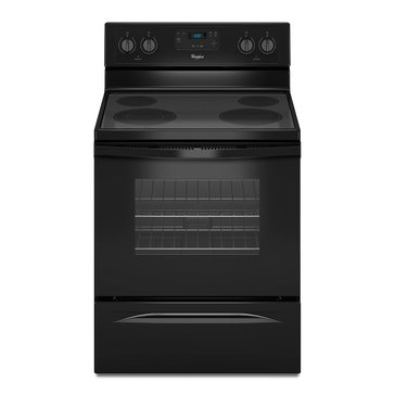 Whirlpool 4.8-Cu.Ft. Freestanding Electric Range w/ Dual Radiant Element, Black (WFE320M0EB)