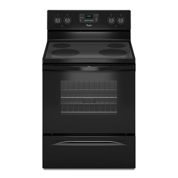 Whirlpool 5.3-Cu.Ft. Freestanding Electric Range, Black (WFE515S0EB)
