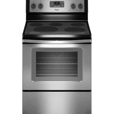 Whirlpool 5.3-Cu.Ft. Freestanding Electric Range w/ FlexHeat Element, Stainless Steel (WFE530C0ES)