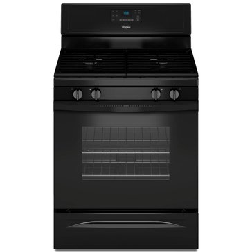 Whirlpool 5.0-Cu.Ft. Freestanding Gas Range w/ AccuBake, Black (WFG515S0EB)