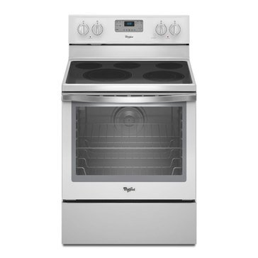 Whirlpool 6.4-Cu.Ft. Freestanding Electric Range w/ AquaLift Self Clean, White Ice (WFE540H0EH)