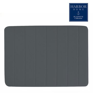 Platinum Collection 21x34 Bath Rug, Charcoal