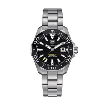 Tag Heuer Men's Aquaracer Calibre 5 Automatic Watch WAY211A.BA0928, Black Ceramic/ Fine Brushed Stainless Steel 41mm