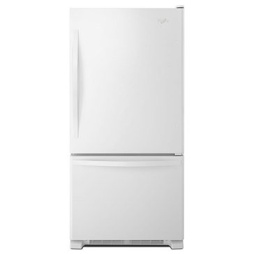 Whirlpool 18.7-Cu.Ft. Bottom-Freezer Refrigerator, White (WRB329DMBW)