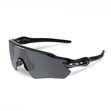 Oalkey Men's Radar EV Path Polarized Sunglasses OO9208-07, Polished Black/ Black Iridium 133mm