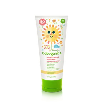 BabyGanics Mineral-Based Sunscreen Lotion 50+ SPF, 6oz