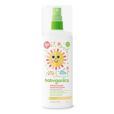 BabyGanics Mineral-Based Sunscreen Spray 50+SPF, 6oz