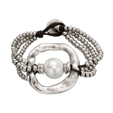 UNOde50 A Pearl Of Wisdom Bracelet, Size Medium