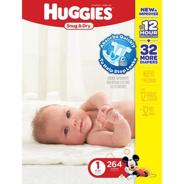 Huggies Snug & Dry - Size 1, Mega Colossal 264-Count