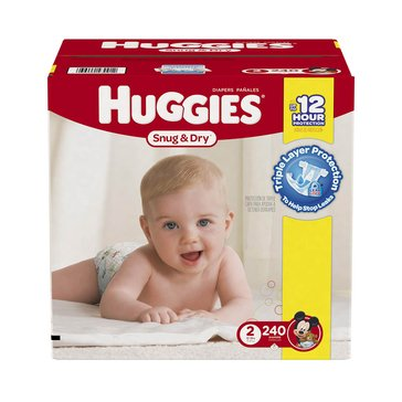 Huggies Snug & Dry - Size 2, Mega Colossal 240-Count