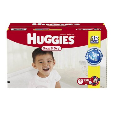Huggies Snug & Dry - Size 6, Mega Colossal 136-Count
