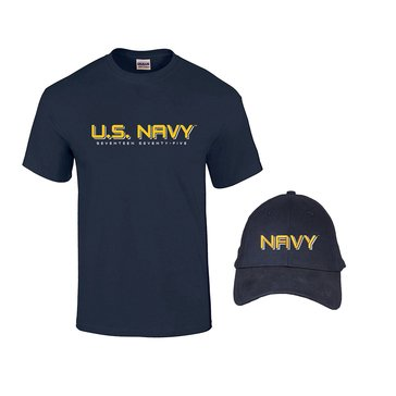 Fire For Effect Men's USN Hat and Short Sleeve Combo
