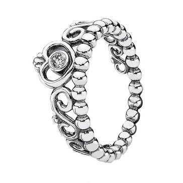 PANDORA My Princess Stackable Ring, Clear Cubic Zirconia - Size 7