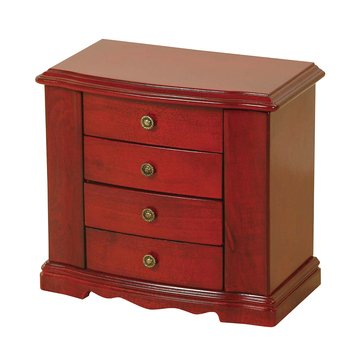 Mele & Co. Harmony Wooden Musical Jewelry Box in Cherry Finish