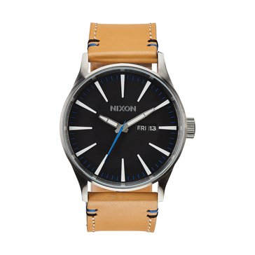 Nixon Men's Sentry 38 Leather Strap Watch 38mm
