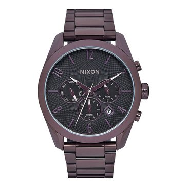 Nixon Women's Bullet Chronograph Black Tone Stainless Steel Bracelet Watch 42mm