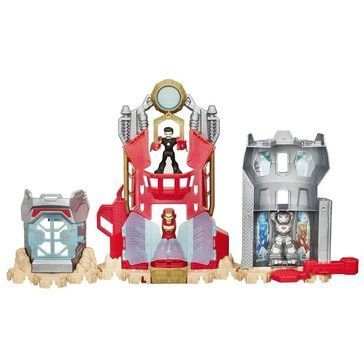 Playskool Marvel Super Hero Adventures Iron Man Armor Up Fortress Playset