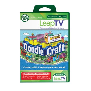 LeapFrog LeapTV Active Video Game: Mr. Pencil presents Doodlecraft