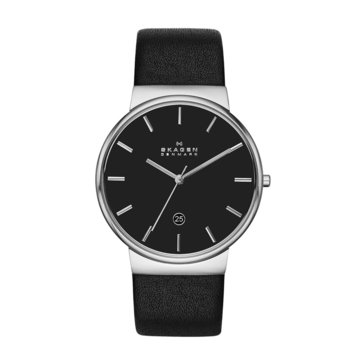 Skagen Men's Ancher Chronograph Leather Strap Watch 40mm
