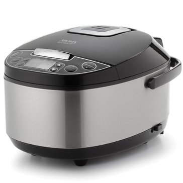 Aroma Professional Digital Rice Cooker, Food Steamer and Slow Cooker, 12-Cup (ARC-616SB)