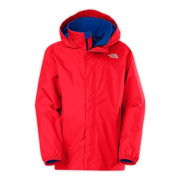 The North Face Big Boys' Resolve Rain Jacket, Fiery Red
