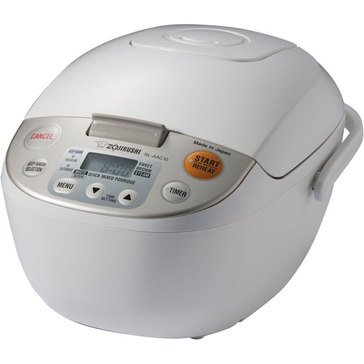 Zojirushi 10-Cup Micom Rice Cooker with Steam Basket (NL-AAC18CA10-CUP)