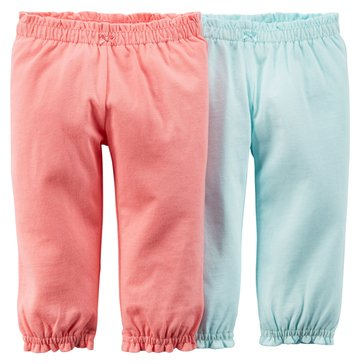Carter's Baby Girls' 2-Pack Pink Pant